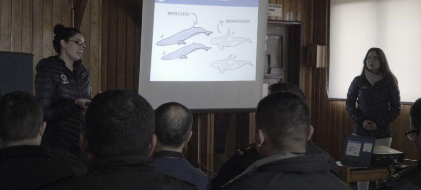 Equipo de Educación Ambiental realiza capacitación a Gobernación Marítima de Castro
