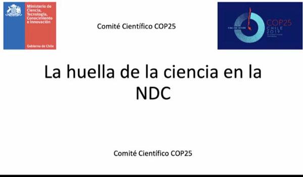 La huella de la ciencia en la NDC